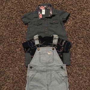 12 month boy overalls